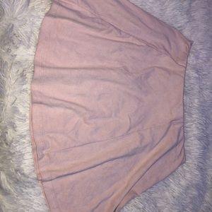 A light pink skirt